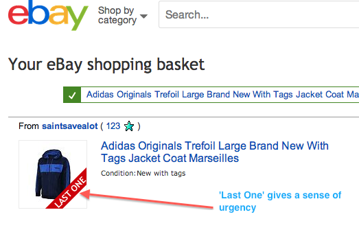 Ebay Basket - Last One Banner